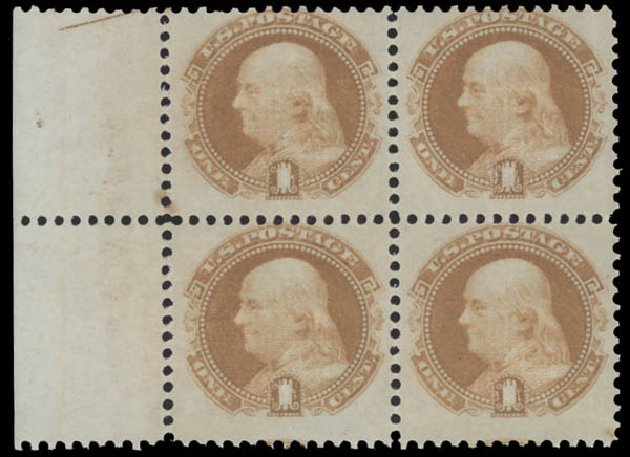 US Stamp Prices Scott # 112 - 1c 1869 Pictorial Franklin. Daniel Kelleher Auctions, Aug 2015, Sale 672, Lot 2333