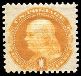 Costs of US Stamps Scott Catalog 112 - 1c 1869 Pictorial Franklin. Schuyler J. Rumsey Philatelic Auctions, Apr 2015, Sale 60, Lot 2083