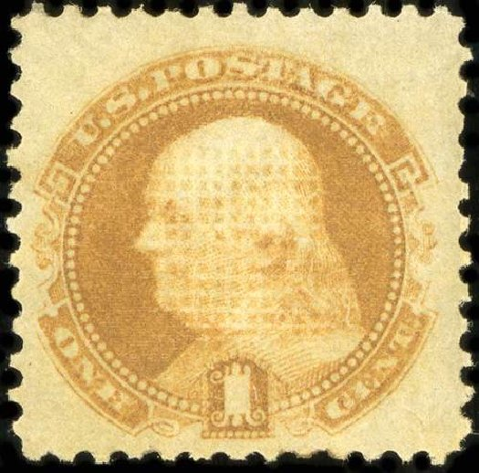 Value of US Stamp Scott #112 - 1869 1c Pictorial Franklin. Spink Shreves Galleries, Jul 2015, Sale 151, Lot 96