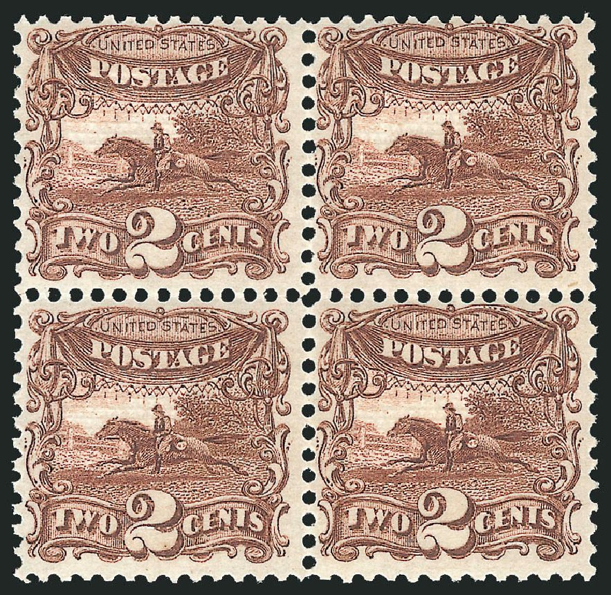 Value of US Stamp Scott 113: 2c 1869 Pictorial Horse Rider. Robert Siegel Auction Galleries, Apr 2015, Sale 1096, Lot 217
