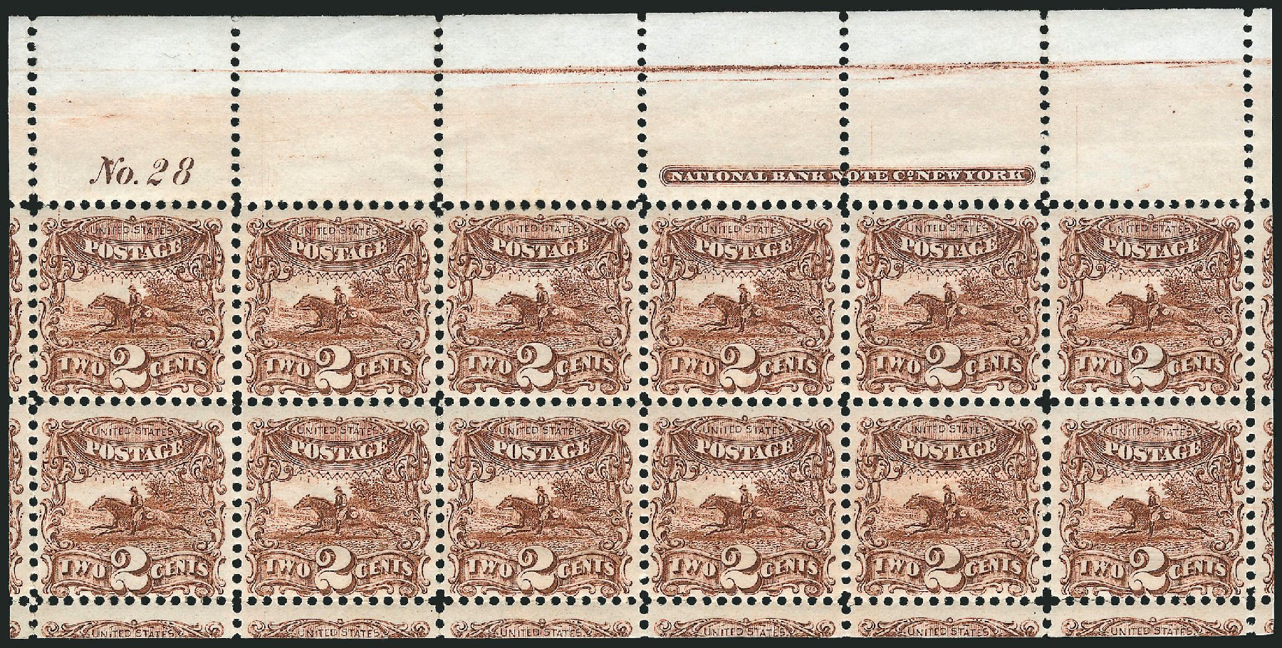 Costs of US Stamp Scott Catalog # 113: 1869 2c Pictorial Horse Rider. Robert Siegel Auction Galleries, Jun 2015, Sale 1100, Lot 30