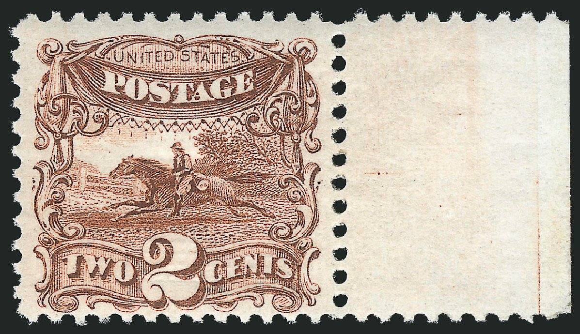 US Stamps Price Scott Catalogue 113 - 1869 2c Pictorial Horse Rider. Robert Siegel Auction Galleries, Feb 2015, Sale 1092, Lot 1083