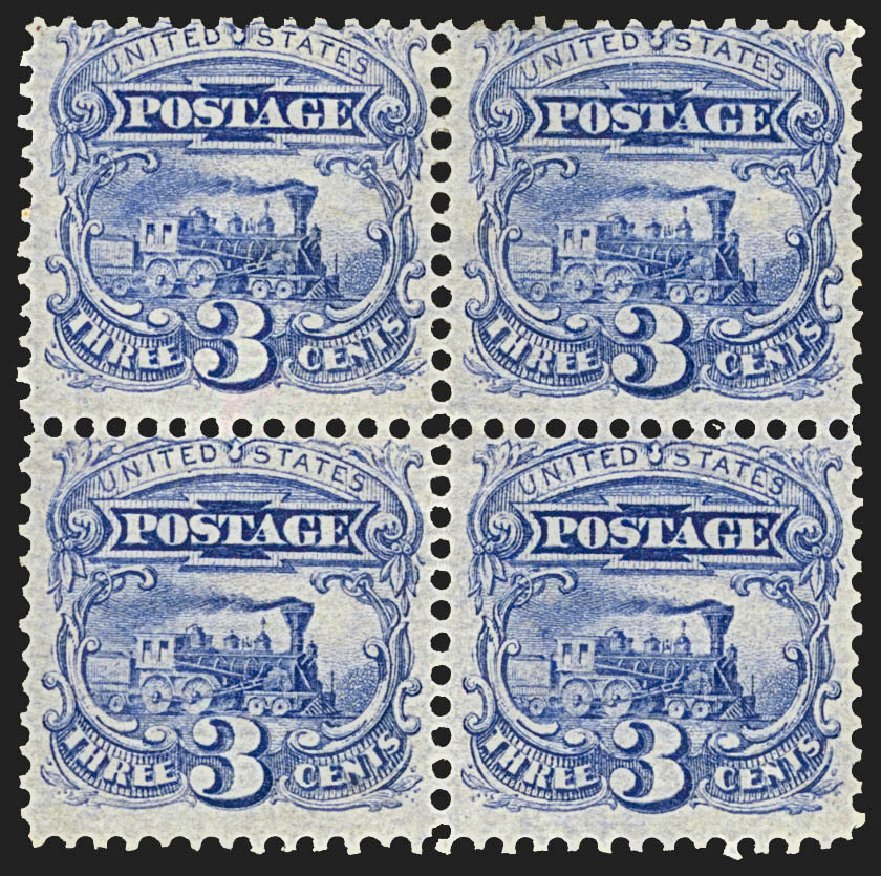 Value of US Stamps Scott Catalog # 114 - 1869 3c Pictorial Locomotive. Robert Siegel Auction Galleries, Jul 2015, Sale 1107, Lot 232