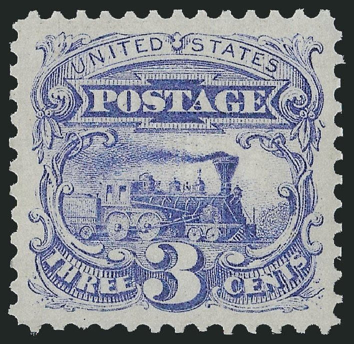 US Stamps Prices Scott Catalogue # 114 - 1869 3c Pictorial Locomotive. Robert Siegel Auction Galleries, Jun 2015, Sale 1106, Lot 3113
