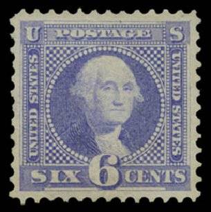 Prices of US Stamps Scott #115 - 1869 6c Pictorial Washington. Daniel Kelleher Auctions, May 2015, Sale 669, Lot 2565