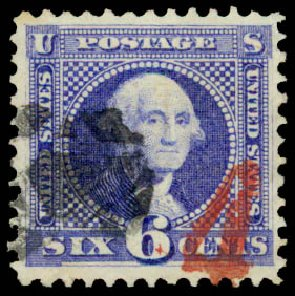 Costs of US Stamp Scott Cat. 115: 6c 1869 Pictorial Washington. Daniel Kelleher Auctions, May 2015, Sale 669, Lot 2563