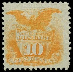 Price of US Stamp Scott Cat. 116: 10c 1869 Pictorial Shield Eagle. H.R. Harmer, Jun 2015, Sale 3007, Lot 3188