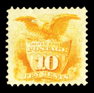 US Stamps Prices Scott Cat. # 116: 1869 10c Pictorial Shield Eagle. Cherrystone Auctions, Jul 2015, Sale 201507, Lot 2050