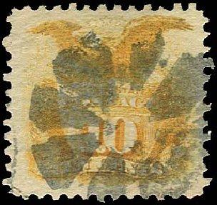 Value of US Stamps Scott Cat. #116: 10c 1869 Pictorial Shield Eagle. Regency-Superior, Jan 2015, Sale 109, Lot 750