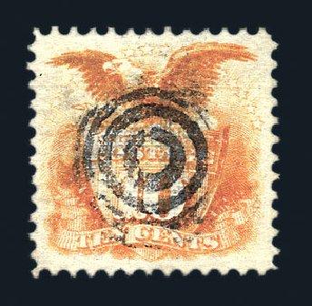 Prices of US Stamps Scott Catalogue 116: 1869 10c Pictorial Shield Eagle. Harmer-Schau Auction Galleries, Aug 2015, Sale 106, Lot 1464