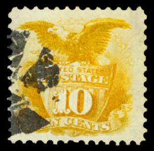 US Stamp Price Scott Catalogue # 116 - 1869 10c Pictorial Shield Eagle. Daniel Kelleher Auctions, Aug 2015, Sale 672, Lot 2344