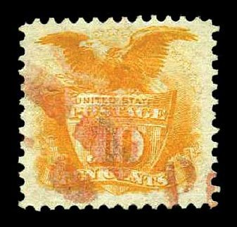 US Stamp Price Scott Cat. # 116 - 10c 1869 Pictorial Shield Eagle. Harmer-Schau Auction Galleries, Aug 2015, Sale 106, Lot 1465