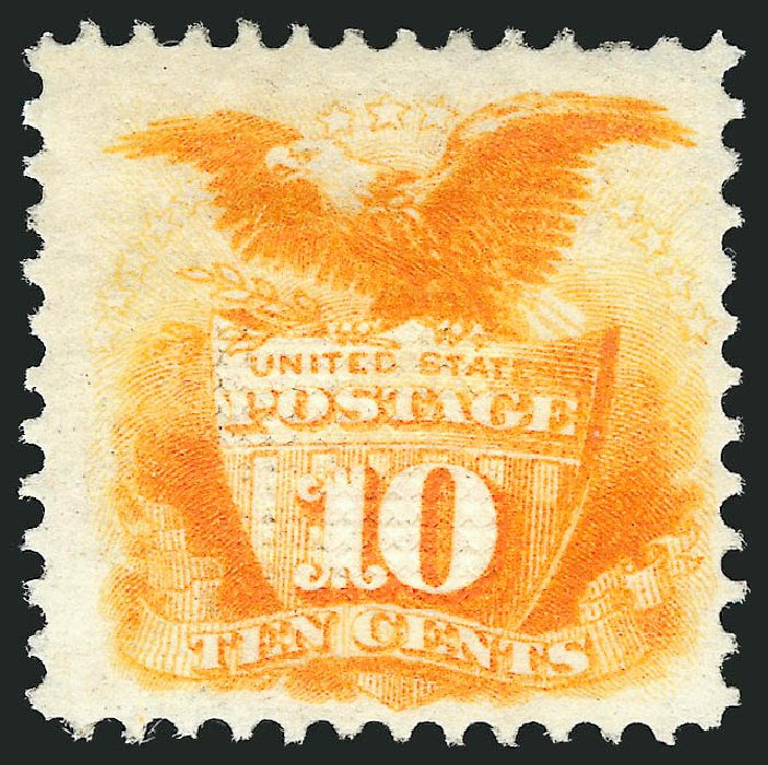 US Stamps Price Scott Catalog # 116: 1869 10c Pictorial Shield Eagle. Robert Siegel Auction Galleries, Apr 2015, Sale 1096, Lot 222
