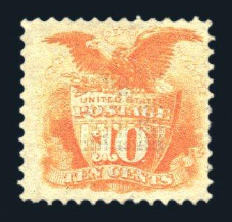 Price of US Stamp Scott Catalog #116: 1869 10c Pictorial Shield Eagle. Harmer-Schau Auction Galleries, Aug 2015, Sale 106, Lot 1463