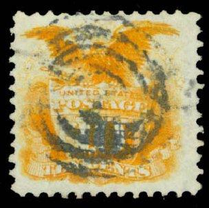 Prices of US Stamps Scott Catalog # 116: 1869 10c Pictorial Shield Eagle. Daniel Kelleher Auctions, Aug 2015, Sale 672, Lot 2343