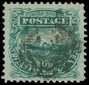 US Stamp Prices Scott Catalog #117 - 1869 12c Pictorial S.S. Adriatic. H.R. Harmer, Jun 2015, Sale 3007, Lot 3190