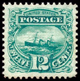 Cost of US Stamps Scott Catalog #117 - 1869 12c Pictorial S.S. Adriatic. Schuyler J. Rumsey Philatelic Auctions, Apr 2015, Sale 60, Lot 2091