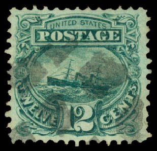 Price of US Stamps Scott Catalogue #117: 12c 1869 Pictorial S.S. Adriatic. Daniel Kelleher Auctions, Aug 2015, Sale 672, Lot 2345