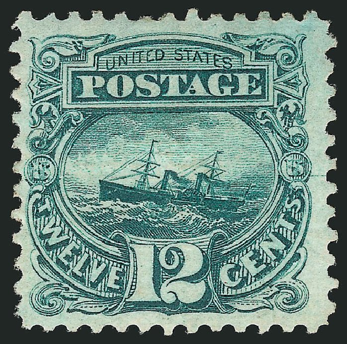 Cost of US Stamps Scott Catalogue 117 - 12c 1869 Pictorial S.S. Adriatic. Robert Siegel Auction Galleries, Apr 2015, Sale 1096, Lot 225