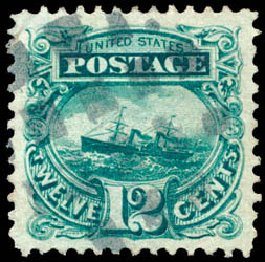 Price of US Stamp Scott Cat. #117 - 12c 1869 Pictorial S.S. Adriatic. Schuyler J. Rumsey Philatelic Auctions, Apr 2015, Sale 60, Lot 2093