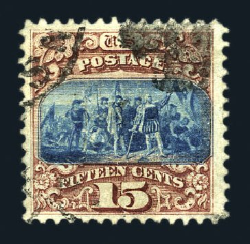 Price of US Stamps Scott Catalog 118 - 15c 1869 Pictorial Columbus. Harmer-Schau Auction Galleries, Aug 2015, Sale 106, Lot 1467