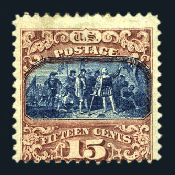 US Stamp Price Scott Catalogue 119: 15c 1869 Pictorial Columbus. Harmer-Schau Auction Galleries, Aug 2015, Sale 106, Lot 1468