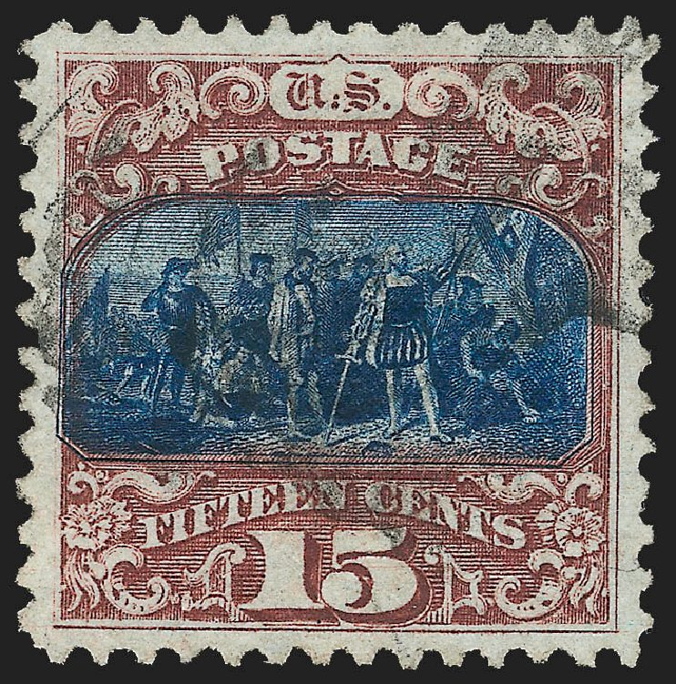 Values of US Stamps Scott Catalogue #119 - 15c 1869 Pictorial Columbus. Robert Siegel Auction Galleries, Jul 2015, Sale 1107, Lot 239