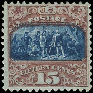 US Stamps Values Scott Cat. # 119 - 1869 15c Pictorial Columbus. Regency-Superior, Aug 2015, Sale 112, Lot 264