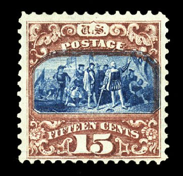 Costs of US Stamp Scott Cat. 119: 15c 1869 Pictorial Columbus. Cherrystone Auctions, Jul 2015, Sale 201507, Lot 2052