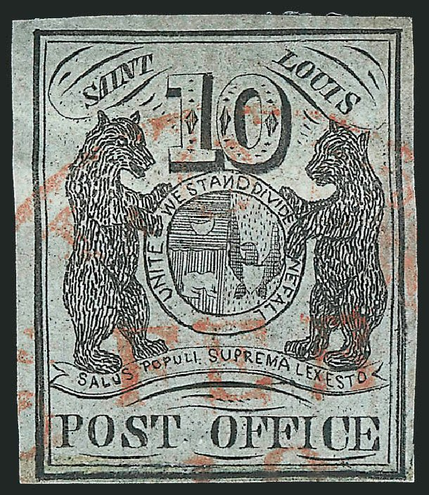 Cost of US Stamp Scott #11X2 - 10c 1845 St Louis Postmasters Provisional. Robert Siegel Auction Galleries, Mar 2014, Sale 1067, Lot 842