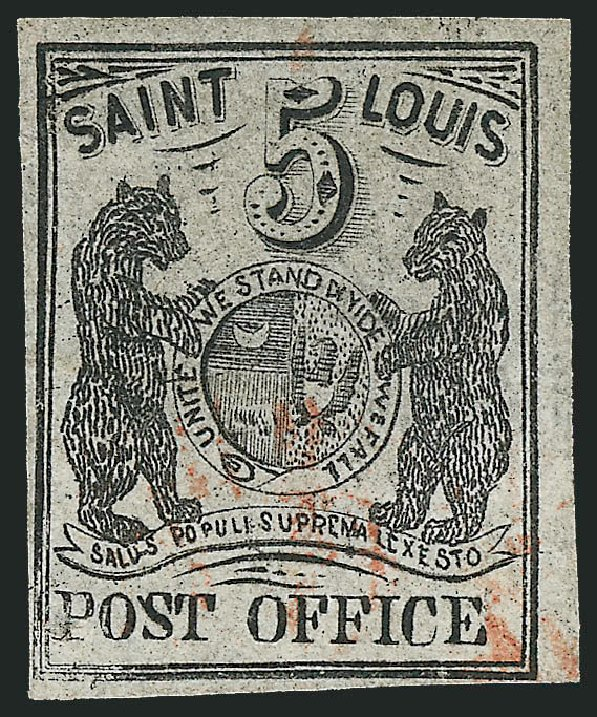 US Stamps Prices Scott Catalog # 11X4 - 1846 5c St Louis Postmasters Provisional. Robert Siegel Auction Galleries, Dec 2013, Sale 1062, Lot 21