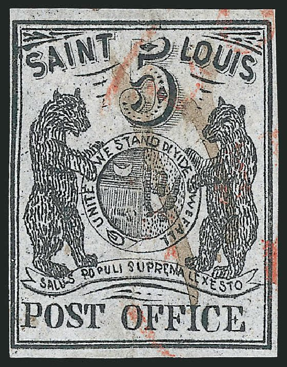 Prices of US Stamps Scott 11X4 - 5c 1846 St Louis Postmasters Provisional. Robert Siegel Auction Galleries, Sep 2010, Sale 993, Lot 11