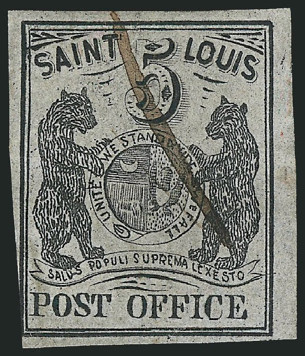 Values of US Stamp Scott Catalog 11X4: 5c 1846 St Louis Postmasters Provisional. Robert Siegel Auction Galleries, Jun 2012, Sale 1025, Lot 44