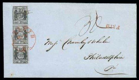 Value of US Stamp Scott 11X5 - 10c 1846 St Louis Postmasters Provisional. Matthew Bennett International, Dec 2007, Sale 324, Lot 1020