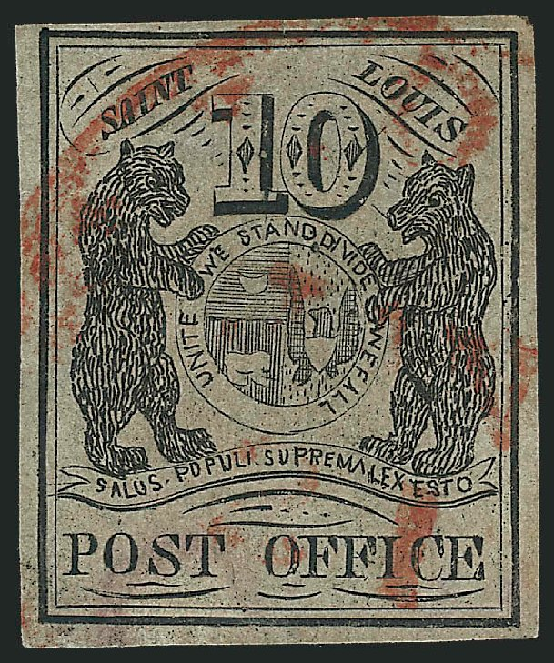 Prices of US Stamps Scott # 11X5: 10c 1846 St Louis Postmasters Provisional. Robert Siegel Auction Galleries, Mar 2014, Sale 1067, Lot 843