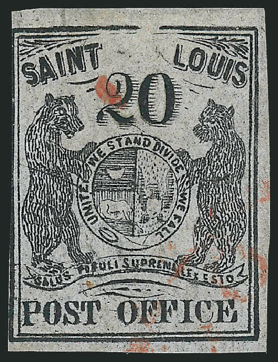 US Stamp Prices Scott Catalogue # 11X6 - 20c 1846 St Louis Postmasters Provisional. Robert Siegel Auction Galleries, Jun 2012, Sale 1025, Lot 50