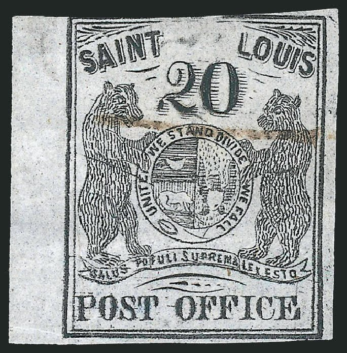 Price of US Stamp Scott Cat. # 11X6 - 1846 20c St Louis Postmasters Provisional. Robert Siegel Auction Galleries, Jun 2012, Sale 1025, Lot 52