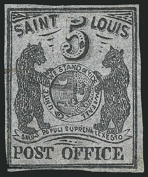Price of US Stamps Scott Cat. 11X7 - 1846 5c St Louis Postmasters Provisional. Robert Siegel Auction Galleries, Dec 2013, Sale 1062, Lot 24