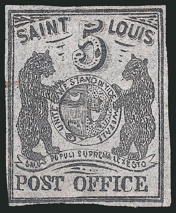 Cost of US Stamps Scott Catalog # 11X7: 1846 5c St Louis Postmasters Provisional. Robert Siegel Auction Galleries, Sep 2010, Sale 993, Lot 14