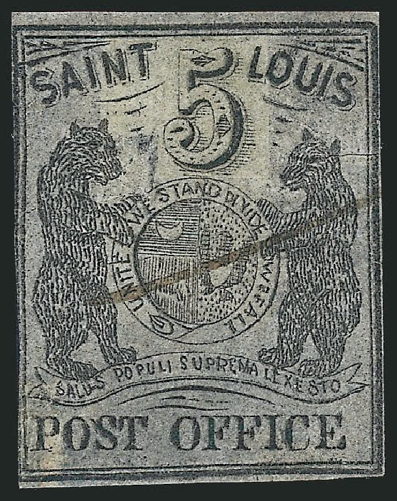 Cost of US Stamp Scott Cat. #11X7: 1846 5c St Louis Postmasters Provisional. Robert Siegel Auction Galleries, Jun 2012, Sale 1025, Lot 55