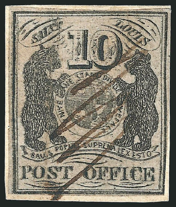 Costs of US Stamp Scott Catalogue # 11X8 - 1846 10c St Louis Postmasters Provisional. Robert Siegel Auction Galleries, Jun 2012, Sale 1025, Lot 58
