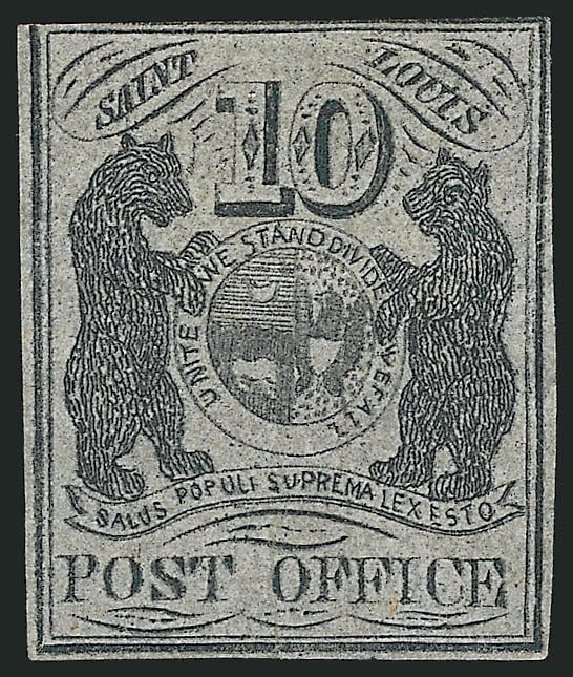 Cost of US Stamps Scott Catalog # 11X8 - 10c 1846 St Louis Postmasters Provisional. Robert Siegel Auction Galleries, Sep 2010, Sale 993, Lot 18