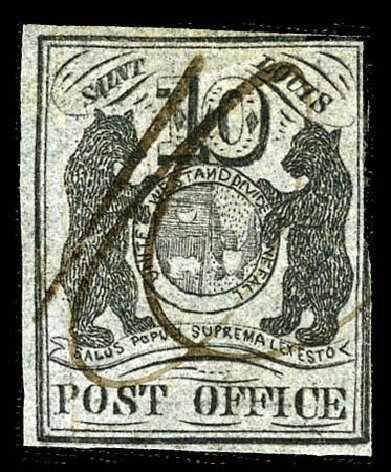 Value of US Stamps Scott Catalogue # 11X8 - 10c 1846 St Louis Postmasters Provisional. Matthew Bennett International, Feb 2012, Sale 340, Lot 19