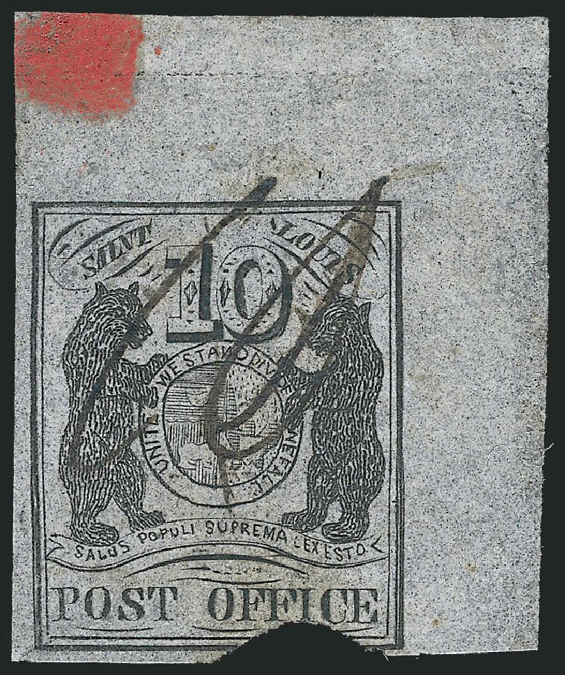 US Stamp Prices Scott Cat. # 11X8 - 1846 10c St Louis Postmasters Provisional. Robert Siegel Auction Galleries, Sep 2010, Sale 993, Lot 19
