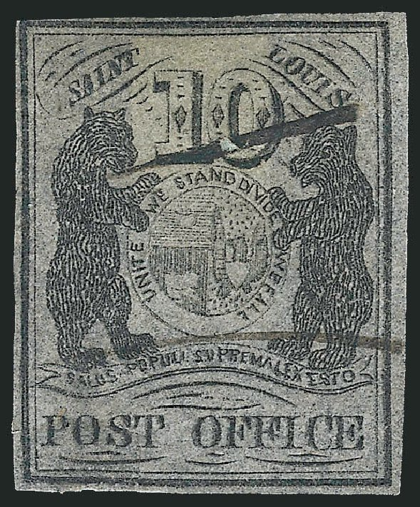 Costs of US Stamp Scott Catalog # 11X8 - 10c 1846 St Louis Postmasters Provisional. Robert Siegel Auction Galleries, Jun 2012, Sale 1025, Lot 56