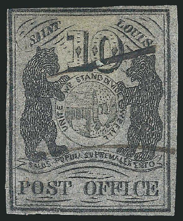 Costs of US Stamp Scott Catalog # 11X8 - 10c 1846 St Louis Postmasters Provisional. Robert Siegel Auction Galleries, Jun 2012, Sale 1025, Lot 56
