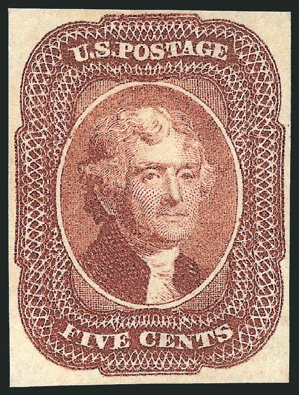 Price of US Stamps Scott 12 - 5c 1856 Jefferson. Robert Siegel Auction Galleries, Apr 2015, Sale 1096, Lot 26
