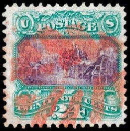 Price of US Stamp Scott Catalogue #120 - 1869 24c Pictorial Declaration. Schuyler J. Rumsey Philatelic Auctions, Apr 2015, Sale 60, Lot 2107