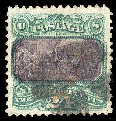 Values of US Stamp Scott Catalogue # 120: 1869 24c Pictorial Declaration. Cherrystone Auctions, Mar 2015, Sale 201503, Lot 9