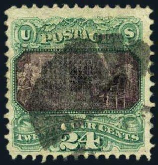 Value of US Stamp Scott # 120 - 1869 24c Pictorial Declaration. Harmer-Schau Auction Galleries, May 2015, Sale 105, Lot 120